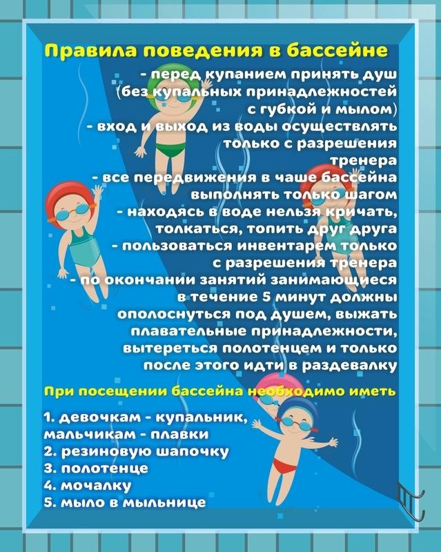 правила посещения бассейна в картинках нанесения изображения